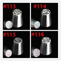 Wholesale Polished Stainless Pipe - Wholesale- free shipping new arrival stainless steel polished surface russian tulip nozzles rose piping tips for cupcake decoration