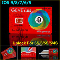 Wholesale Sprint Phones Wholesales - Newest Gevey Sim Unlock Card Perfect unlock for iphone 6S plus 6 6plus 5s 4s ios9 ios 8 ios7.X AT&T T-mobile AU SB DOCOME Sprint phones
