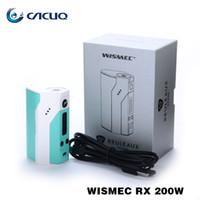 Wholesale Best Joyetech Wholesale - Wismec Reuleaux RX200 Box Mods RX200S Powered By Joyetech Chip RX 200W Best Match Amor Plus TFV4 Mini Indestructible Tank 100% Original