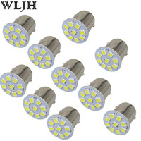 Wholesale Led Dome Lamp Bulbs - WLJH24V Led 1156 BA15S P21W & 1157 3528 SMD Chips External Lights Car Truck Trailer RV Brake Reverse Backup Lights Turn Signal Lamp