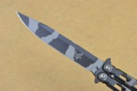 Wholesale Hunting Songs - BM 14S baliosng Bear Song Butterfly Knife 440 steel Tiger Stripe BM42 BM43 tactical knife survival gear knife knives For Recreation