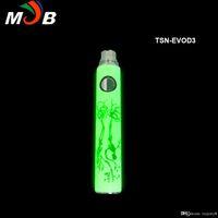 Wholesale Ego Luminous Battery - High Quality Christmas TSN-EVOD battery TSN Noctilucent Battery E Cigarette Ego-T Luminous Night Lighting Battery TSN battery