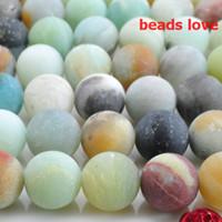 ingrosso fili amazonici-Scegli la dimensione 4.6.8.10.12MM Natural Smooth Colorful Amazonite Stone Branelli allentati rotondi 15.5
