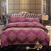 Wholesale Quality Silk Comforter Set - 2016 high quality silk cotton 4 pcs bedding set Bed bed Sheet Quilt Duvet Covers PillowCase Bedclothes Bed Linen King size