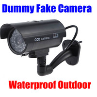 Wholesale Security Camera Flash Light - Fake camera Dummy Emulational Decoy Outdoor bullet CCTV IR Wireless HOME Security Cameras Flash light Red Led flashes