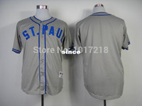 st good - 30 Teams Good Quality Hot Sale Baseball Jersey Minnesota Twins Blank St Paul Saints Turn Back The Clock Jersey Embroidery Logos