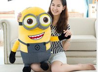 Wholesale Minion Plush Toy Small - Hot saleHot sale 30p 60CM 3D eyes Despicable Me Small Doll Plush Toy Pillow Birthday Gift Girlfriend Kid Hot Movie Minions Toys Soft Cute Pl