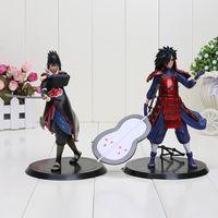 Wholesale Action Figure Madara - 7'' 18cm 2pcs set Naruto Uchiha Sasuke Uchiha Madara Anime PVC action figures collectible model Kids toy