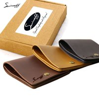 SMIRNOFF Marca de luxo Short Hasp Vegetable Tanned Leather Small Wallet Com Moeda Pocket Card Holder Handmade Small Female Wallet