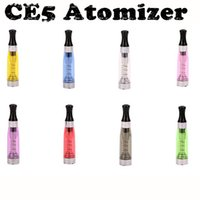 Wholesale Cartomizer Clearomizer Ego Wickless - Smooth 510 threaded ce5 clearomizer wickless ce5 tank bottom coil unchangeable ego ce5 cartomizer tank 1.6ml with 7 colors available for ego