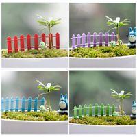Wholesale bottle garden plants - Handmade Mini Palings Multi Colors Eco Bottle Desktop Decor Miniature Fairy Garden Decorations Fence 0 3qp C R