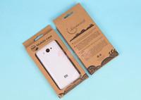 упаковка для блистерной упаковки для мобильного телефона оптовых-Новый блистер Крафт крафт-бумаги розничной упаковке коробки для iPhone 4 5 5S 6 плюс Samsung S3 S4 S5 примечание 2 3 4 мобильный телефон случае DHL бесплатно
