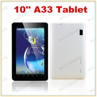 Wholesale Usb Camera Skype - 10 Inch A33 Quad Core Tablet PC X5 Android 4.4 KitKat 1GB RAM 8GB ROM Wifi Dual Camera Skype ARM Cortex A7 1.5GHz HD 10.1 10.2