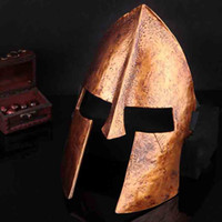 Collection Spartan Warrior oro maschera pieno facciale resina di Cosplay del casco pellicola di mascheratura Halloween Party Pasqua Uomini Bauta Mask Cosplay Supplies SD333