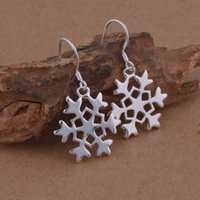 Wholesale Earring Snowflake Silver - Foreign trade jewelry 925 sterling silver earrings Snowflake Earrings popular spot wholesale