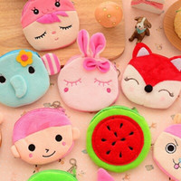 Wholesale The new cute furry little coin purse zero wallet female cartoon art card package very lovely very useful for girls