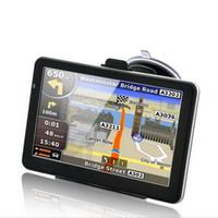 Wholesale Igo Map Navigation Gps - 7 inch Car GPS Navigation Handheld Navigator Bluetooh Av In FM Transmitter MTK CE 128M 4GB 8GB Free NEW iGo Map Free DHL