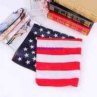 Wholesale USA United States american flag US bandana Head Wrap Scarf Neck Warmer Double Sided Print