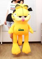 Wholesale Garfield Stuffed - Dorimytrader 59''   150cm Large Soft Plush Cute Stuffed Cartoon Garfield Cat Toy, Nice Birthday Gift For Kids, Free Shipping DY60280