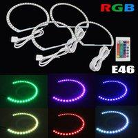 Wholesale Ccfl Ring Bmw E46 - 4x Blue BMW Angle Eye Halo Ring E36 E38 E39 E46 CCFL Bulbs Lamps 3 5 7 serie Kit 5 colors LED lighting