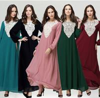 ropa de mujer islámica moda al por mayor-Nuevas mujeres de la llegada Vestidos largos Vestido musulmán Moda Abaya En Dubai Ropa islámica islámica Abaya para las mujeres BM-1134 450g / pic