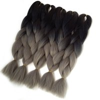 Verve tres ton 24inch 100g / pcs Ombre Braiding Hair Jumbo Braiding Hair Synthétique <b>Brading Hair</b> Extension