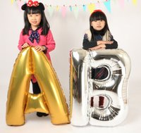 Wholesale Christmas Foil Balloons - 40 inches BIG Aluminum foil balloons membrane English letters wedding New Year celebration Christmas holiday balloon birthday party QU6