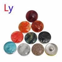 Wholesale Texture Resin - Wholesale! Rock texture Multicolor Mix Rhinestone Button DIY Headgear Accessories chunk Jewelry noosa bracelet Free shipping AC052