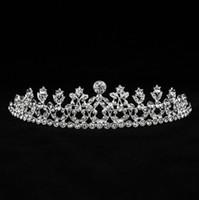Wholesale Crystal Hair Clip Cheap - Cheap Girls Tiaras Crowns Headband Hair Clips Rhinestone Jewelry Bridal Hair Wedding Crown Tiaras Crystals Fascinators Headband