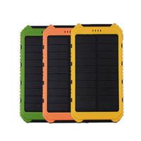Wholesale External Battery 1a - Universal 18000mAh Solar Panel Power Bank 2A 1A External Battery Pack Phone Charger Green Orange Yellow Wholesale