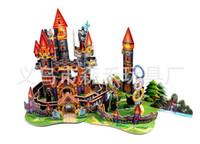 Wholesale Fairy Tale House - Wholesale-Free shipping ZILIPOO 3D Fairy Tale Toy Castle house, Children's Safe Non-toxic Foam+Paper Model DIY Jigsaw 370
