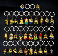 Wholesale Despicable Dhl - DHL 500pcs Hot Sale 3D Despicable Me Minion Action Figure Keychain Keyring Key Ring Cute Mix order 18 styles
