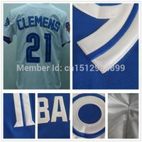Wholesale Sports Oakland - 30 Teams- 21 Roger Clemens Jerseys Oakland Stitched cheap authentic baseball jerseys sports size 60 wholesale customize green white