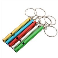 Wholesale Car Emergency Set - Outdoor camping First aid kit supplies Emergency Whistle Mini Survival whistle Keychain Team set Training Metal whistle 7cm