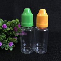 Wholesale Drop Bottles Thin - New Arrvial ! Free shipping 2200pcs 15ml PET bottle with colorful childproof cap by DHL high quality 15ml long thin tip drop bottle