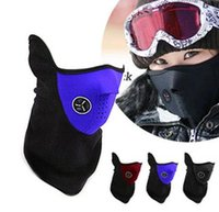 Wholesale Face Hoods - Neoprene Neck Half Face Ski Warmer Mask Outdoor Sports Mask Cycling Motorcycle mask Domire Unisex Dustproof  Windproof Half Face Hood