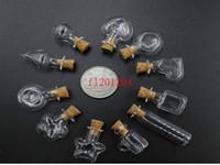 contenedores con forma única al por mayor-500 unids / lote DHL FEDEX Envío Gratis 2 ML Mini Botella de Cristal En Forma Única 2cc Botellas de Vidrio Hechos A Mano Frascos Contenedores