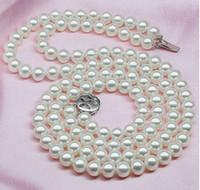 ingrosso l'acquisto di perle naturali-Best Buy Pearls Jewelry 8-9mm natural beauty bianco akoya collana di perle doppia collana estremamente lucido impeccabile collane di perline