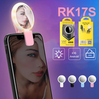 Rechargeable Selfie anel de luz universal 20 LED Fotografia RK-17S Flash-up luz Selfie Luminous Lamp Night Phone Ring Para telefone inteligente