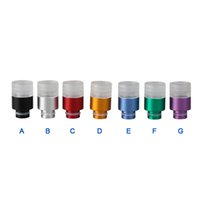 Wholesale New Style Dct - 2015 New rich colors tube style wide bore Drip Tip Aluminum transparent teflon mix drip tips dct rba rda vaporizer mod atomizer mouthpiece