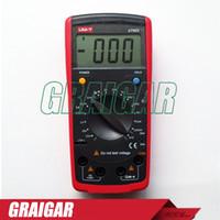 Wholesale inductance tester resale online - Portable Handheld Digital Inductance Capacitance Meters Tester UNI T UT602 Insulation Tester RESIOSTOR Meter ohm Mohm Resistance