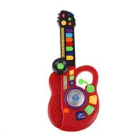 Wholesale Kids Musical Guitars - Led Electronic Piano Keyboard Guitar Musical Instrument Toys for Kids Children Infantil Toddler with DJ Stage Style Juguetes