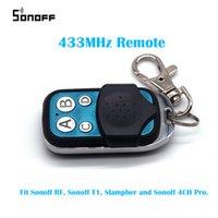 Wholesale 4ch Rf Remote Control - Sonoff RF 433MHz 4 Channel Controller ABCD 4 Buttons Slampher 4CH Pro Electric Remote Key Fob Control Smart Home WiFi Light Switch