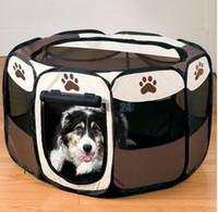 ingrosso letti per tende per i cani-Pet Dog Cat Tenda Winter Dog Bed Kennel Cage House Supplies Tessuto Oxford Telaio in acciaio di grandi dimensioni