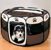 quadros oxford venda por atacado-Pet Dog Cat Tent Inverno Dog Dog Kennel Gaiola Casa Suprimentos Oxford Tecido de Aço Armação Grande Tamanho Pequeno