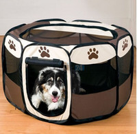 Wholesale dog crates carriers for sale - Group buy Pet Dog Cat Tent Winter Dog Bed Kennel Cage House Supplies Oxford Fabric Steel Frame Large Small Size