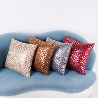 Wholesale Leopard Car Pillow - Short Plush Leopard Gold Printed Pillow Covers Luxury Pillow Case for Sofa Cushion Car Home Decorative Pillowcases