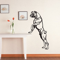 Wholesale Puppy Wall Decor - Large Size Boxer Dog Wall Decals Vinyl Stickers Home Decor Pets Shop Puppy Wall Stickers Animals For Kids Room