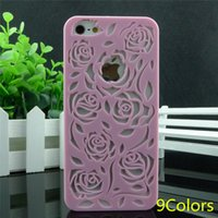 Wholesale I Phone Gel - Wholesale-2015 new arrival fashion rose TPU cover for apple i phone iphone 5 5s,Soft GEL back case cover for iphone5 iphone5s PC04