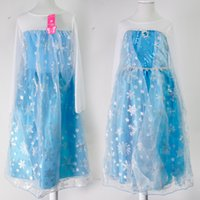 Wholesale Wholesale Lace Long Sleeve Dresses - Best Quality Frozen Dress 2017 Girl Party Dress Princess Costume Kids Girls Elsa Dress Lace Long Sleeve 1701012